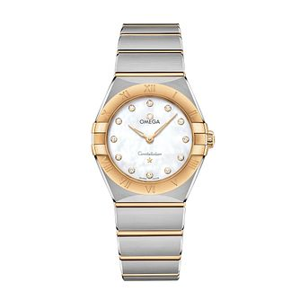 Omega Constellation Ladies Two Colour Diamond Bracelet Watch - Product number 3307581