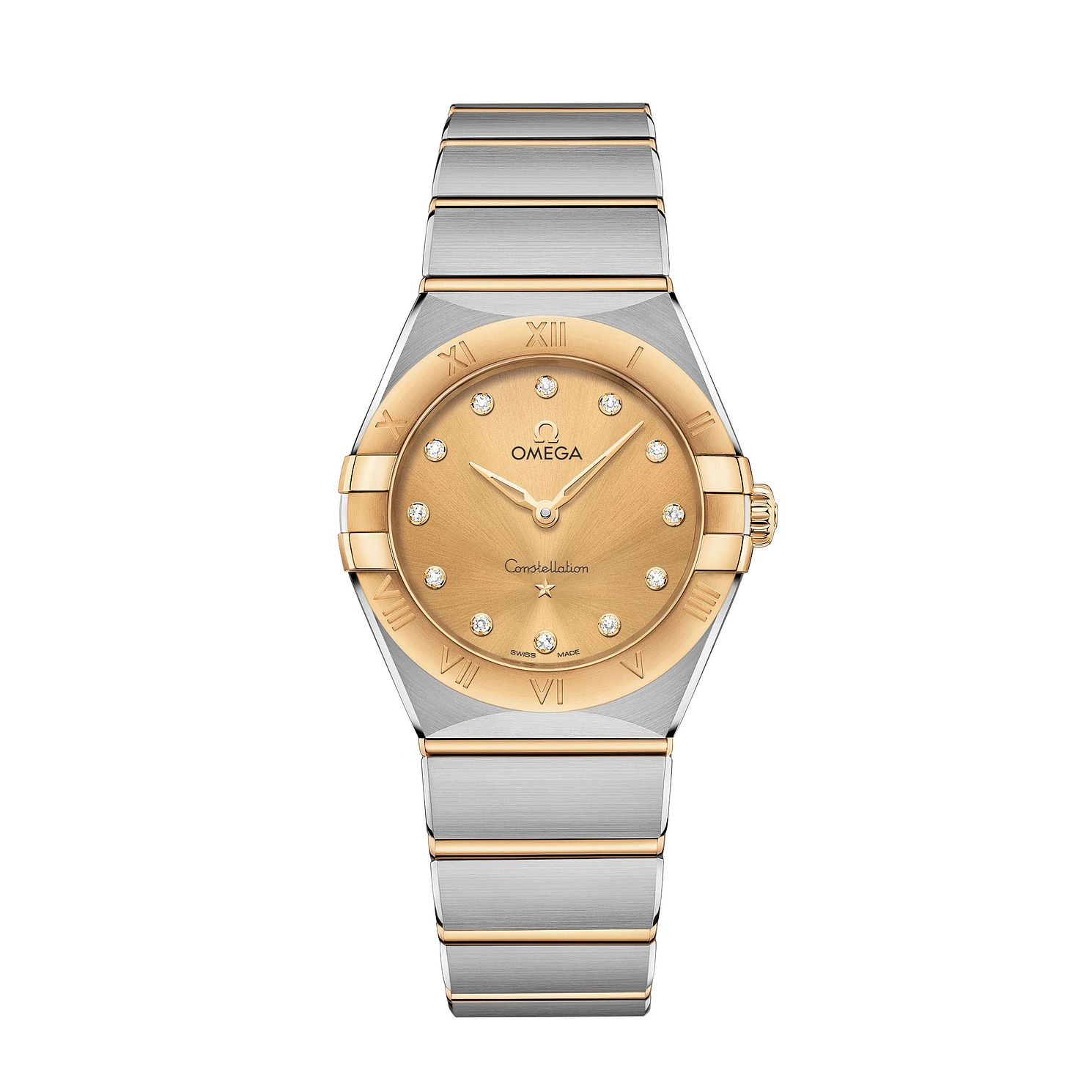 Omega Constellation Ladies Two Colour Diamond Bracelet Watch - Product number 3307689