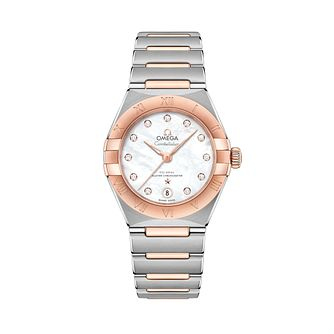 Omega Constellation Ladies Two Colour Diamond Bracelet Watch - Product number 3307719
