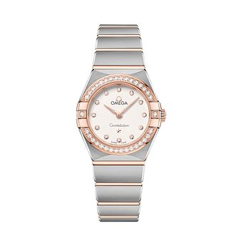 Omega Constellation Ladies Two Colour Diamond Bracelet Watch - Product number 3307778