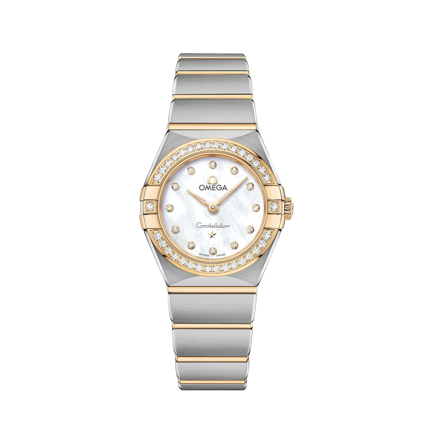 Omega Constellation Ladies Two Colour Diamond Bracelet Watch - Product number 3307786