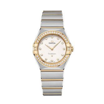 Omega Constellation Ladies Two Colour Diamond Bracelet Watch - Product number 3307794