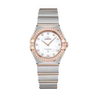 Omega Constellation Ladies Two Colour Diamond Bracelet Watch - Product number 3308111