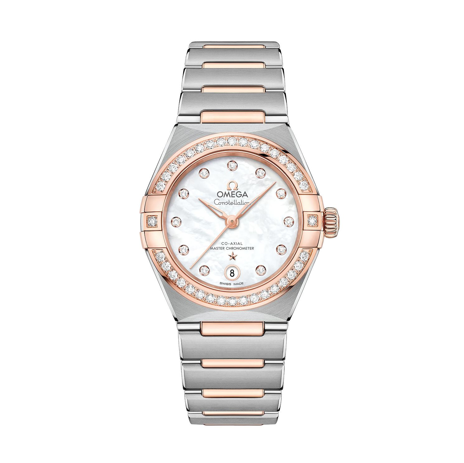 Omega Constellation Ladies Two Colour Diamond Bracelet Watch - Product number 3308146