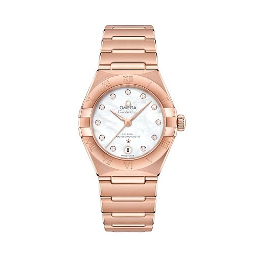 Omega Constellation Manhattan 18ct Rose Gold Bracelet Watch - Product number 3308200
