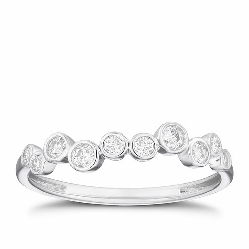 9ct White Gold 1/5ct Diamond Round Eternity Ring - Product number 3319555