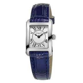 Frederique Constant Carree Ladies' Blue Strap Watch - Product number 3320650