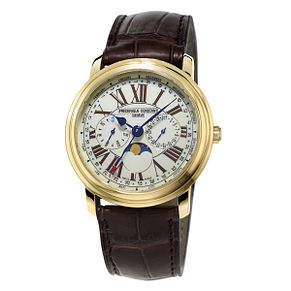Frederique Constant Classics Men's Gold Plated Strap Watch - Product number 3322211