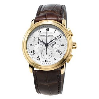 Frederique Constant Classics Men's Gold Plated Strap Watch - Product number 3322246