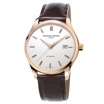 Frederique Constant Slimline Men's Rose Gold Plated Watch - Product number 3322327
