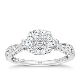 Princessa 9ct White Gold 2/5ct Diamond Ring - Product number 3324664