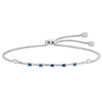Vera Wang Silver, Sapphire & 0.14ct Diamond Bracelet - Product number 3331571