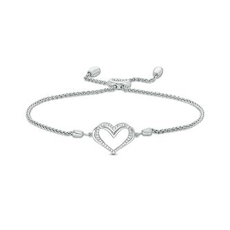 Vera Wang Silver Diamond Heart Adjustable Bracelet - Product number 3331709