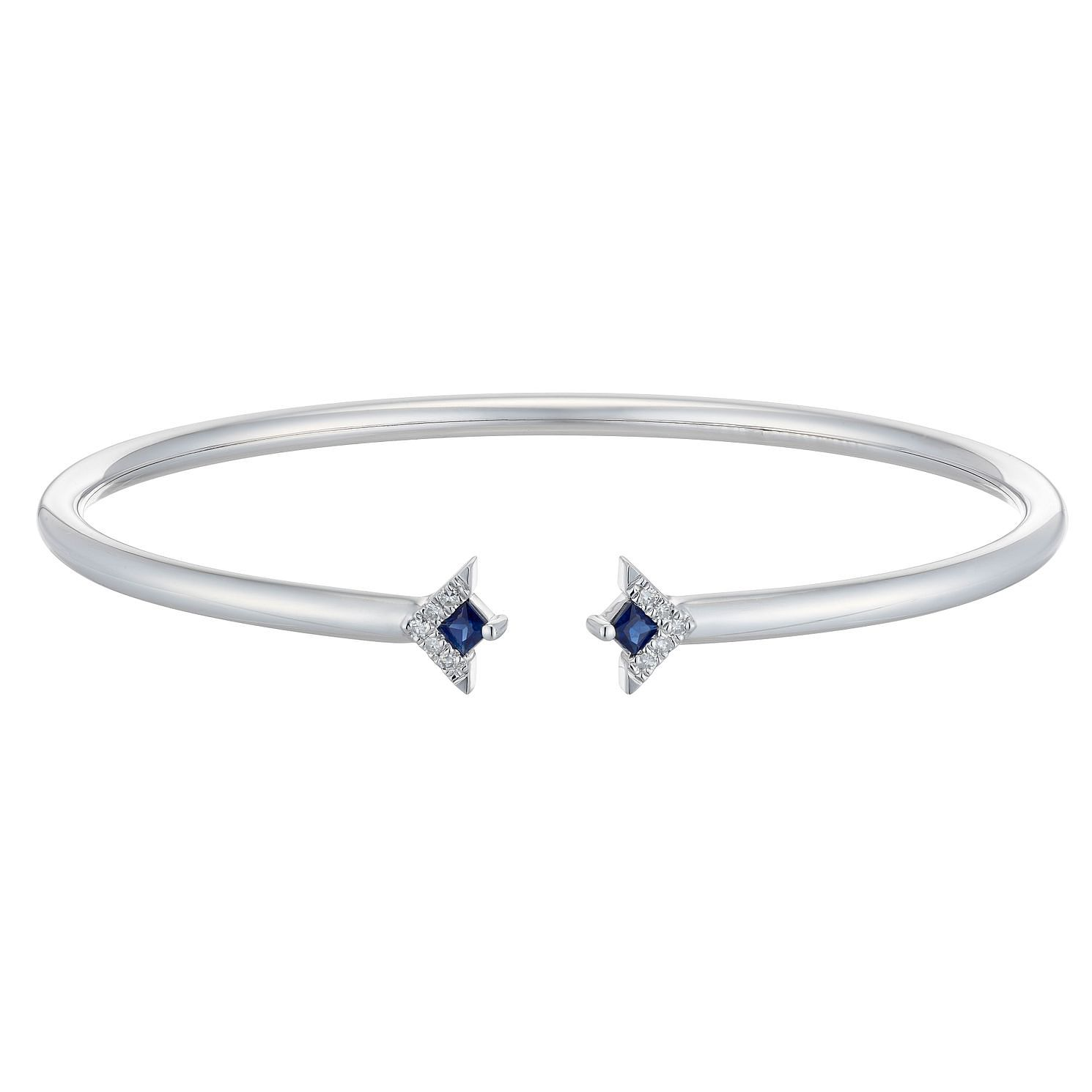 Vera Wang Sterling Silver, Sapphire & Diamond Bangle - Product number 3331725