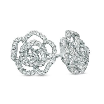 Vera Wang 14ct White Gold 0.30ct Diamond & Sapphire Earrings - Product number 3331776
