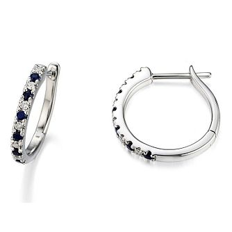 Vera Wang Diamond & Sapphire Hoop Earrings - Product number 3331806