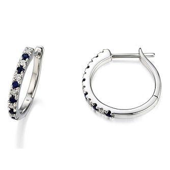 5172a9843 Vera Wang Diamond & Sapphire Hoop Earrings - Product number 3331806