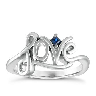 Vera Wang Sterling Silver Sapphire Love Ring - Product number 3332063
