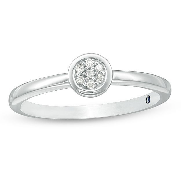 Vera Wang Silver Diamond Ring - Product number 3333906