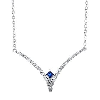 Vera Wang Sterling Silver, Sapphire & Diamond Necklace - Product number 3333957