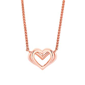 Vera Wang 18ct Rose Gold Kindred Heart Pendant - Product number 3334244