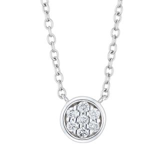 Vera Wang Sterling Silver & Diamond Dot Necklace - Product number 3334511