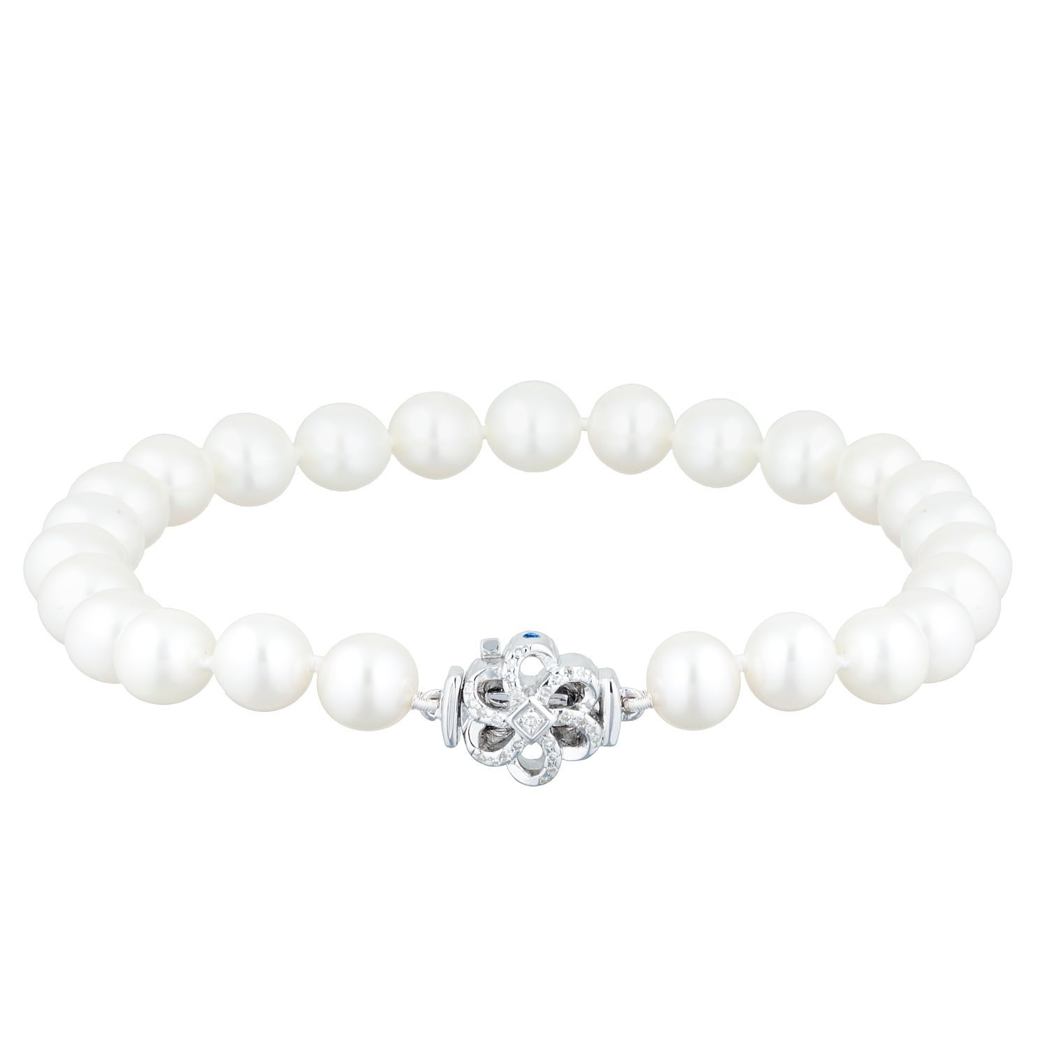 Vera Wang Cultured Freshwater Pearl Diamond Bracelet - Product number 3334546