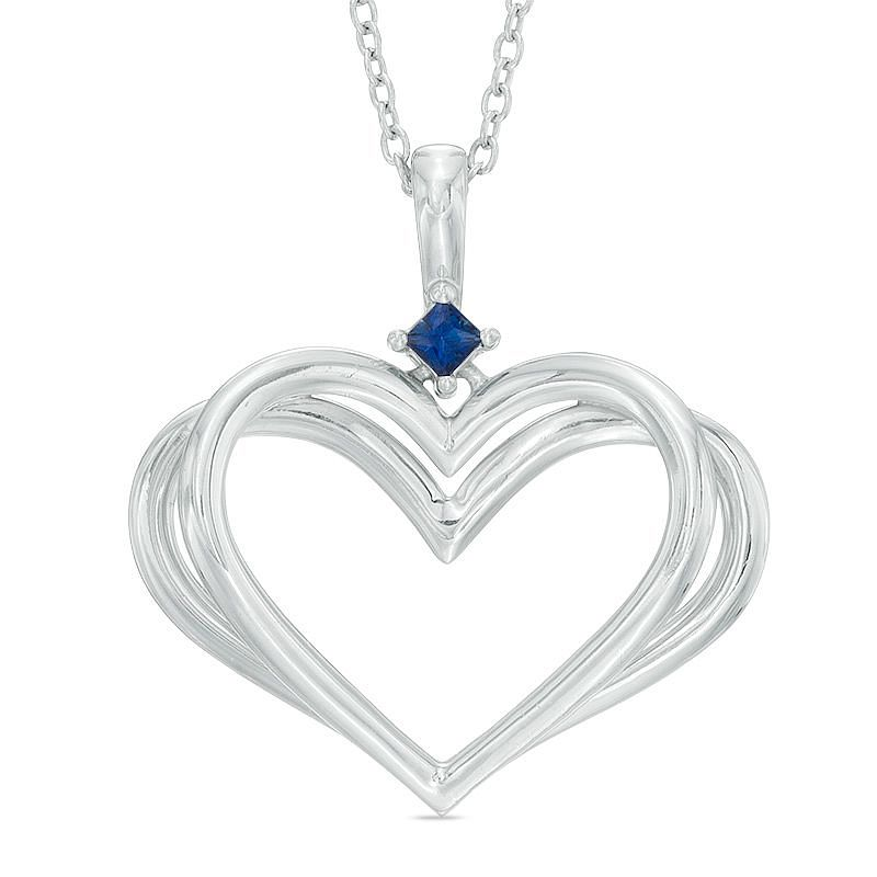Vera Wang Silver Kindred Heart Sapphire Heart Pendant - Product number 3334570
