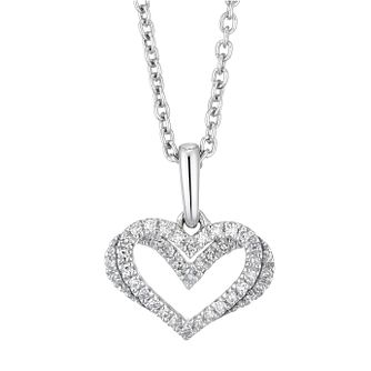 Vera Wang Sterling Silver & Diamond Kindred Heart Pendant - Product number 3334678