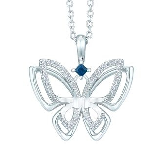 Vera Wang Diamond and Sapphire Butterfly Pendant - Product number 3334708