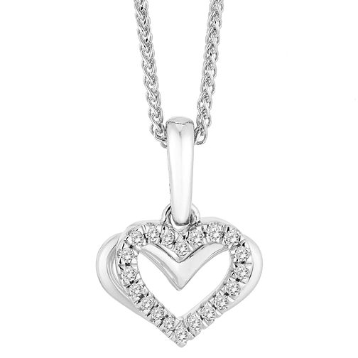 Vera Wang 18ct White Gold Diamond Heart Pendant - Product number 3334767