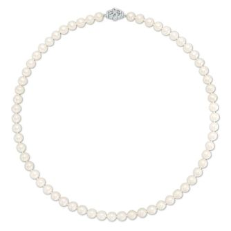 Vera Wang Diamond & Pearl Necklace - Product number 3334902