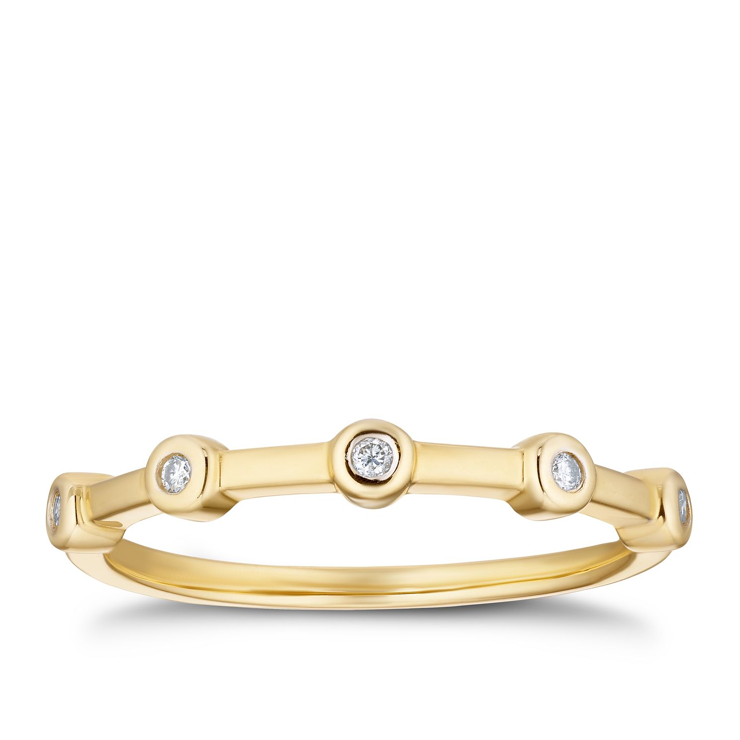 9ct Yellow Gold Round Diamond Eternity Ring - Product number 3336905