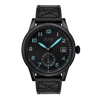 BOSS Legacy Men's Black Leather Strap Watch - Product number 3341828