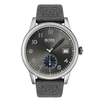 Hugo Boss Legacy Men's Grey Fabric Strap Watch - Product number 3341909