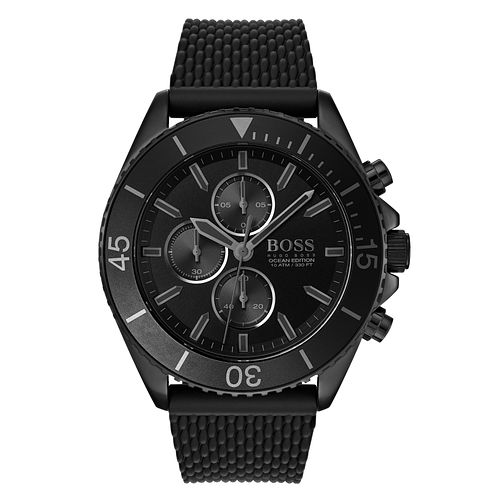 Hugo Boss Ocean Edition Men's Black Rubber Strap Watch - Product number 3341968