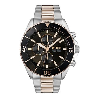 BOSS Ocean Edition Men's Two Tone Bracelet Watch - Product number 3342085