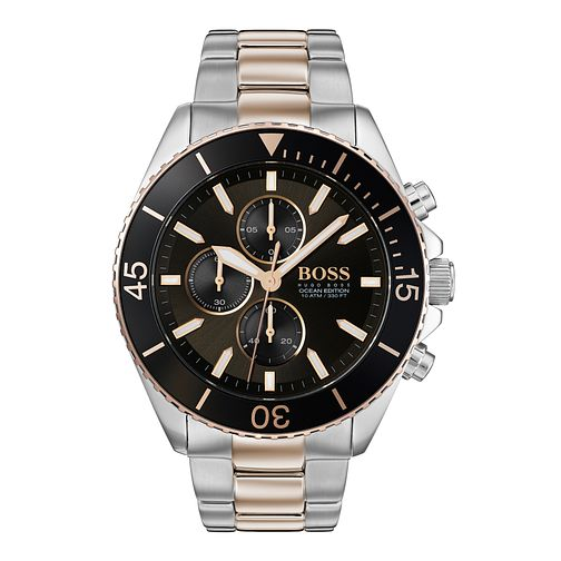 Hugo Boss Ocean Edition Men's Two Tone Bracelet Watch - Product number 3342085