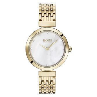 Hugo Boss Celebration Ladies' Gold Tone Bracelet Watch - Product number 3342344