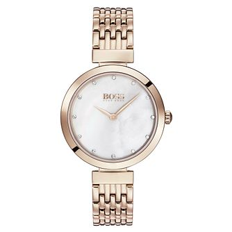 Hugo Boss Celebration Ladies' Rose Gold Tone Bracelet Watch - Product number 3343405