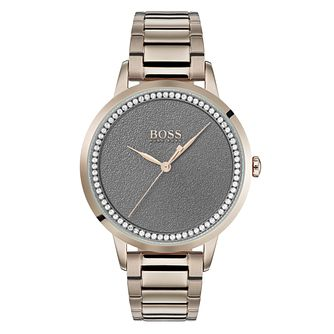 Hugo Boss Twilight Ladies' Rose Gold Plated Bracelet Watch - Product number 3348237