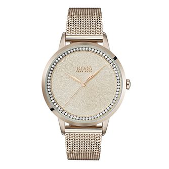 Hugo Boss Twilight Ladies' Rose Gold Plated Bracelet Watch - Product number 3348261