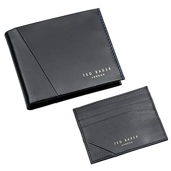 Ted Baker Men's Black Leather Cardholder & Wallet Gift Set - Product number 3372650