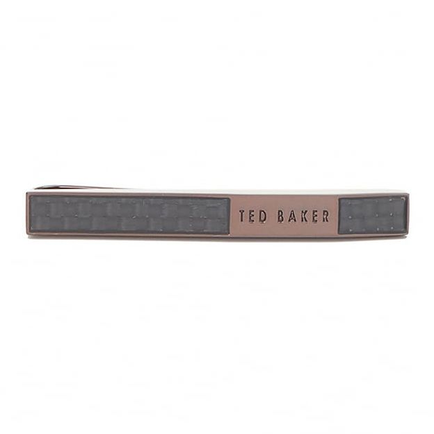 Ted Baker Lunges Men's Brown Accented Tie Bar - Product number 3373630