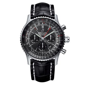 Breitling Navitimer 1 B03 Rattrapante Black Strap Watch - Product number 3374025