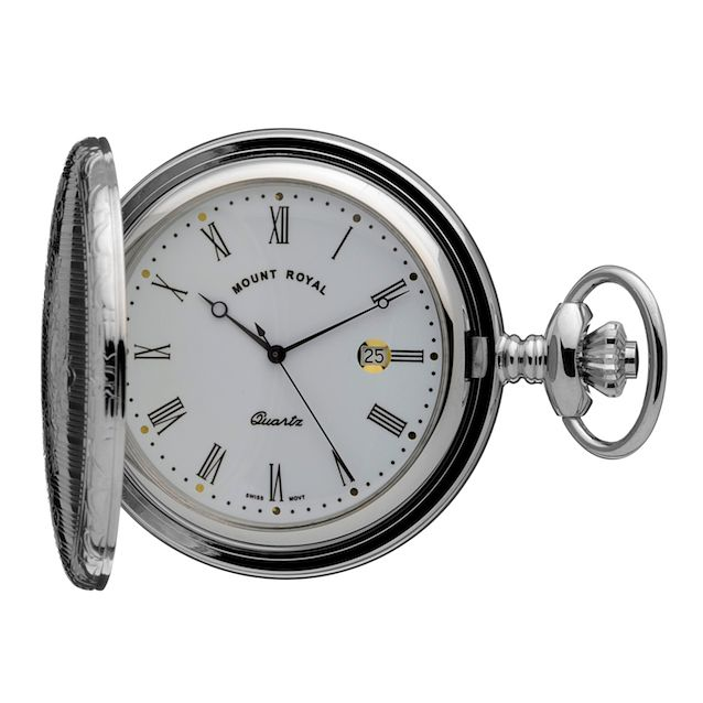 Men's Chrome Pocket Watch - Product number 3374475
