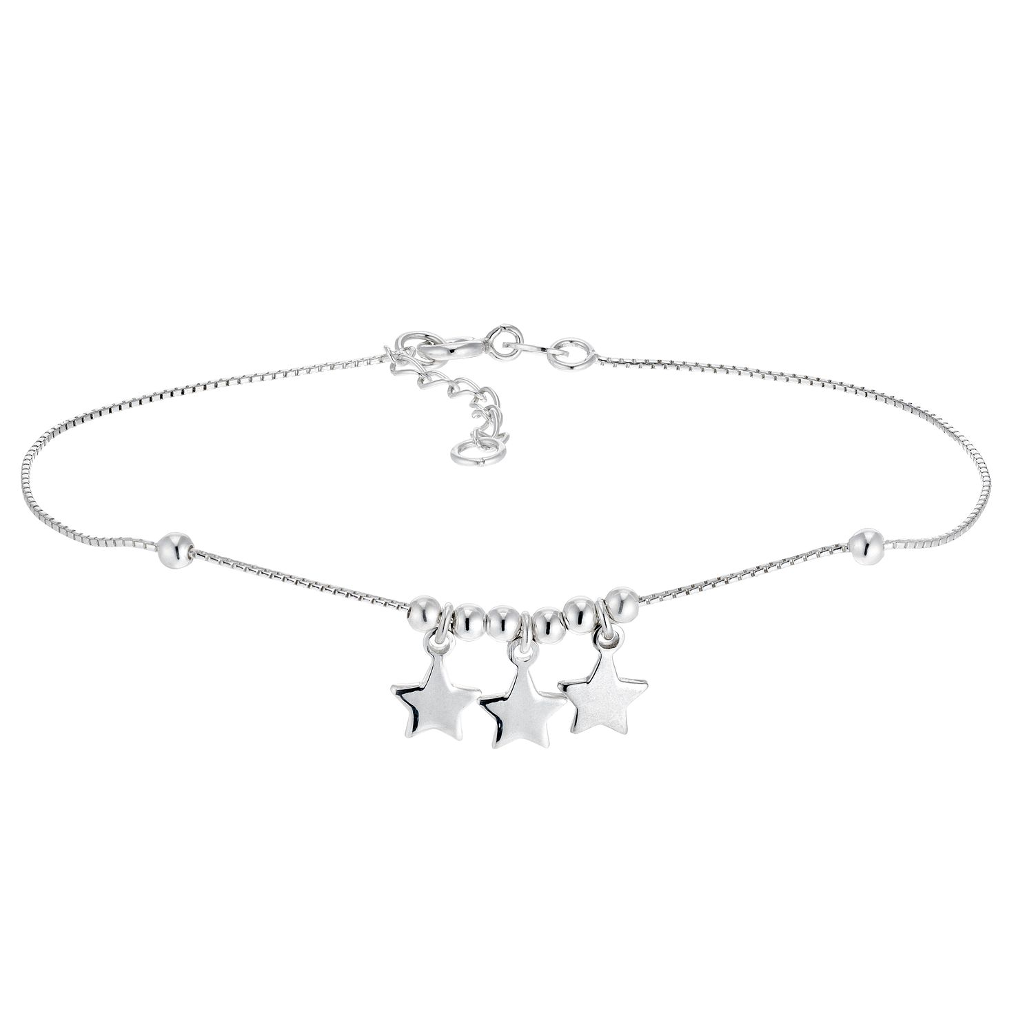 Silver Triple Star Anklet - Product number 3374599