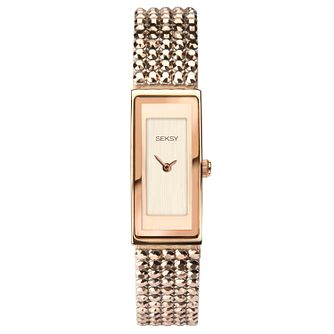 Seksy Shimmer Ladies' Rose Gold Plated Bracelet Watch - Product number 3375471