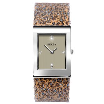 Seksy Rocks® Ladies' Leopard Print Bracelet Watch - Product number 3375498