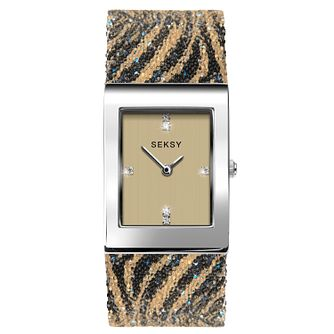 59931a6354e5 Seksy Rocks® Ladies  Tiger Print Bracelet Watch - Product number 3375501
